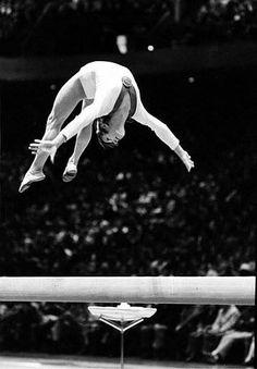 Belarusian gymnast Olga Korbut