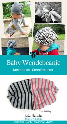 Reversible Beanie Baby - Reversible Baby Beanie for Babies First-Out Gifts for Birth Free Sewing Pattern Free Sewing Tutoria - Beanie Babies, Baby Hats, Mama Baby, Mom And Baby, Baby Kind, Sewing Patterns Free, Free Sewing, Pattern Sewing, Diy Bebe