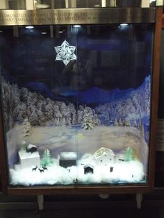 Christmas village at Jesmond Library