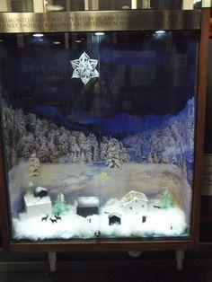 Christmas village at Jesmond Library
