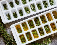How To Preserve Herbs In Oil - the Pioneer Woman- by Gaby.... I have tried this before and it's wonderful! especially when creating Italian dishes, spaghetti, 'smahed potatoes', crock pot chicken, some beef roasts....so many things would be so good with these handy frozen herbs!