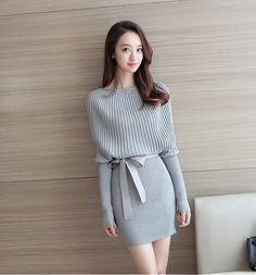 Sexy Women Sweater Bodycon dress cocktail party knitting