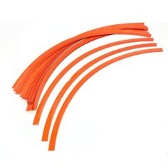 Unique Bargains 32 Pcs 31cm Length Orange Adhesive Car Motorcycle Wheel Rim Tape Sticker Strip