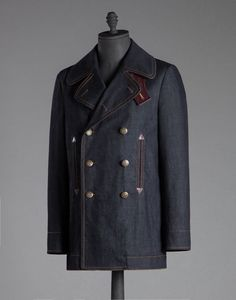 WASHED DENIM DOUBLE-BREASTED PEACOAT - Jackets - Dolce&Gabbana - Winter 2015