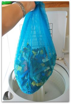 Wash legos in washing machine!  SO SMART (and tons of other life hacks)