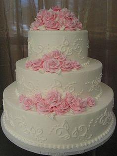 All Buttercream Wedding Cake | All buttercream. | Wedding Cakes