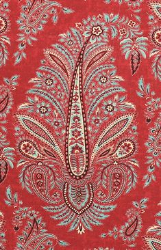 Wynyard red paisley | Kathryn M. Ireland for Scalamandre