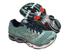 2e7e0c37d5ea Mizuno Womens Wave Creation 13 Green Running Shoes US 6 NIB FBA « Clothing  Impulse