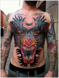0002510a5 11 best Japanese wolf tattoo images in 2015 | Wolf tattoos, Japanese ...