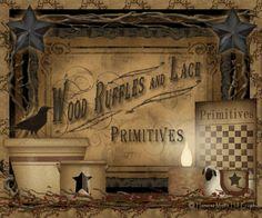 Wood Ruffles & Lace Primitives - Primitive Decor -