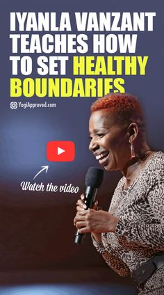 Video of inspirational speaker and author Iyanla VanZant on how to set healthy boundaries by exercising your NO Muscle. Prepare to be inspired!
