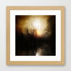 Dark sunset Framed Art Print 12 X 12 $44 framed