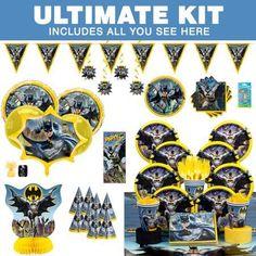 Batman Ultimate Hoopla Tableware Kit (Serves 8)