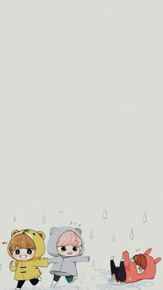 fan art wallpaper of bts Chibi Wallpaper, Kawaii Wallpaper, Cartoon Wallpaper, Cute Bear Drawings, Bts Drawings, Bts Chibi, Anime Chibi, Fan Art Percy Jackson, Fanart Bts