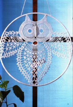 "filet crochet owl and other patterns. ""Solo esquemas y diseños de crochet: animales II (Includes chart of the Owl)"", "" I think I'll make this for Faith, Filet Crochet, Mandala Au Crochet, Chat Crochet, Crochet Motifs, Thread Crochet, Crochet Doilies, Crochet Stitches, Crochet Symbols, Crochet Diagram"