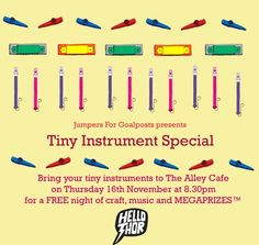 """Jumpers for Goalpost """"tiny instrument special"""" poster"""