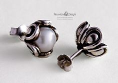 Stud Pearl Earrings #CandyEarrings, #WithJewelrywhocouldnotbeHappy