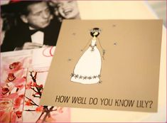 """How Well Do You Know the Bride"""" questionnaire."""""""