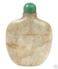 18th Century Qing Dynasty Chinese Jade Snuff Bottle