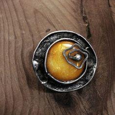 Nefryt tiffany pierścionek - Pierścionki, obrączki - Biżuteria artystyczna