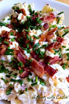 Loaded Baked Potato Salad  Ingredients4 large Russet or Yukon Gold potatoes  1/4 cup mayonnaise  1/2 cup sour cream  1/2 cup shredded cheddar cheese  1/4 cup freshly chopped chives, divided  8 strips of bacon (6 for the salad and 2 for topping) cooked and crumbled  1 tsp black pepper  salt to taste