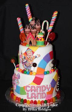 Candyland cake. @H A L E Y |  V A N  |  L I E W Bunting