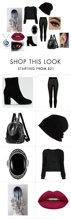 """""""Ryu's outfit #1"""" by doledroid on Polyvore featuring beauty, American Eagle Outfitters, River Island, SCHA, Le Vieux, Public School and Huda Beauty"""