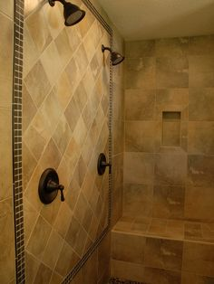 Double shower heads for master