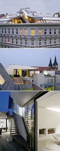 Modern loft space built on top of a historic building in Vienna, by Lakonis Architekten