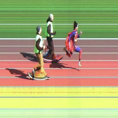 A #photofinish of Super Woman taking you into the weekend. #finishlynx #Athletics #tracknation #runnerspace