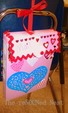The reNOUNed Nest: Cereal Box - Valentine Mailboxes: Here's How They Turned Out