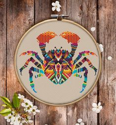 This is modern cross-stitch pattern of Mandala Crab for instant download. You will get 7-pages PDF file, which includes: - main picture for your reference; - colorful scheme for cross-stitch; - list of DMC thread colors (instruction and key section); - list of calculated thread