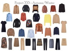 Project 333: camel & navy, step by step | The Vivienne Files
