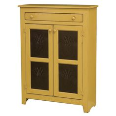 Chelsea Home Furniture 465-0204T-OM Anna Large Pie Safe in Olde Mustard with…