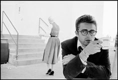 James Dean rehearses for a TV drama (Credit: Dennis Stock/Magnum Photos) James D'arcy, Actor James, Magnum Photos, Lord Byron, Martin Parr, Jack Nicholson, Hollywood Couples, In Hollywood, Hollywood Glamour