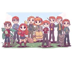 Beforeafter 307863324531766059 - Kawaii Weasley Fam Prints or Source by clavedespax Arte Do Harry Potter, Harry Potter Cartoon, Cute Harry Potter, Harry Potter Artwork, Theme Harry Potter, Harry Potter Drawings, Harry Potter Tumblr, Harry Potter Jokes, Harry Potter Wallpaper