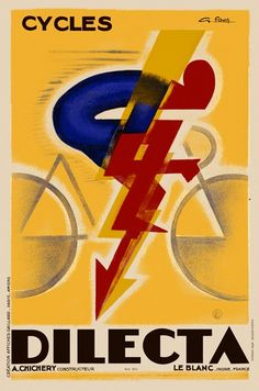 Cool Art Deco bike poster. Never knew there was such a thing.