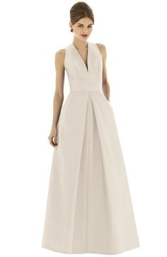 Alfred Sung Dupioni A-Line Gown available at #Nordstrom