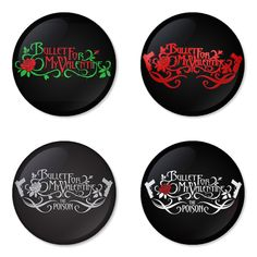 "BULLET FOR MY VALENTINE 1.75"" Badges Pinbacks, Mirror, Magnet, Bottle Opener Keychain http://www.amazon.com/gp/product/B00D5BAJHU"