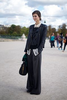 chic wide-leg trousers