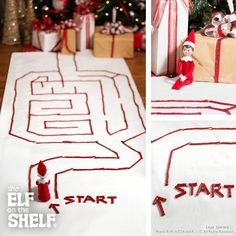 Elf On The Shelf Ideas | Licorice Labyrinth