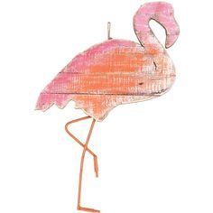 Escape To Paradise Wood Flamingo Silhouette Wall Decor ($20) ❤ liked on Polyvore featuring backgrounds