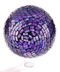 Purple & Pink Mosaic Glass Gazing Ball