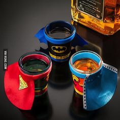 Superhero Shot Glasses... VBS after party??  ;)