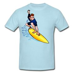 Surf T-Shirt. #Spreadshirt #Cardvibes #Tekenaartje #summer #surfing $20.70