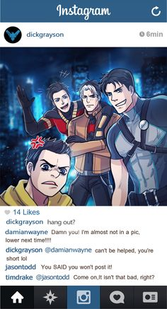 If batfamily have a instargram [1]