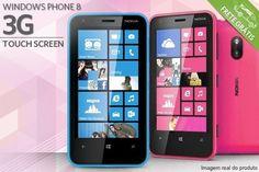 Celular Nokia Lumia 620, a partir de R$799,00