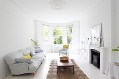 Large double fronted Victorian house in Tulse Hill Large living room opening up into kitchen Lovely light . Office Lighting, Photo Location, Large Windows, White Bathroom, Victorian Homes, Palace, Lounge, Living Room, Bedroom