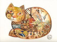 Extremely ingenious and beautiful, cats painted by Oxana Zaika