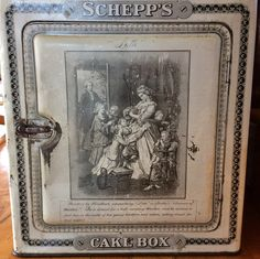Antique Schepp's bakery cake box bakery advertising tin lithography Grothe Lotte Dorothea by lizfinestcollection on Etsy